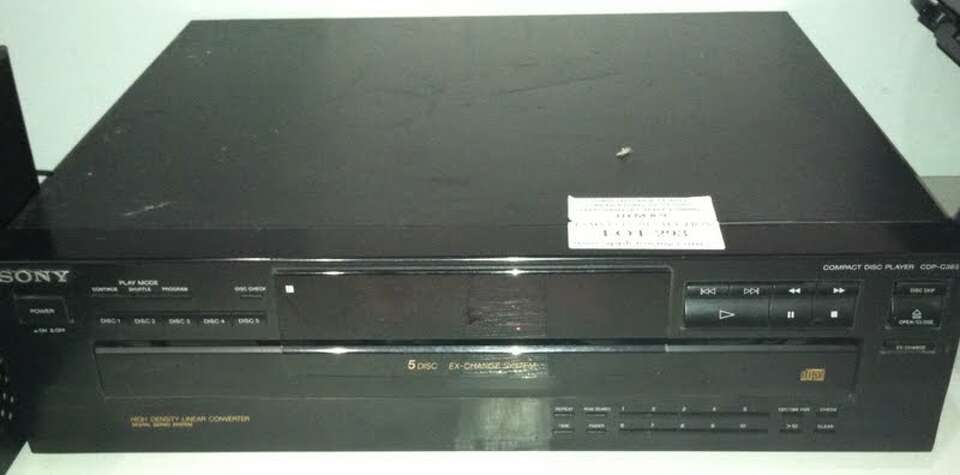 This Sony 5-disc exchange system is being auctioned by the U.S. Marshals Office.
