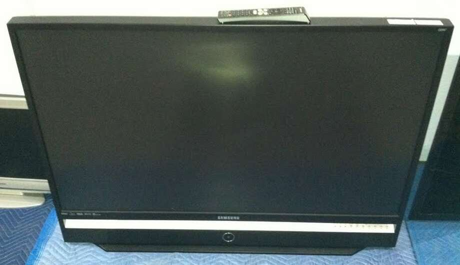 This Samsung 50-inch TV is being auctioned by the U.S. Marshals Office. Photo: Picasa, .