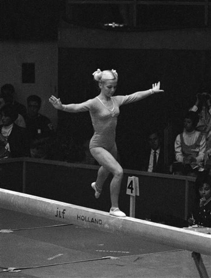 In 1968 she was 15 and the youngest member of the USA gymnastics team to perform at the 1968 Olympics in Mexico City. Photo: Anonymous, Ap / 1968 AP