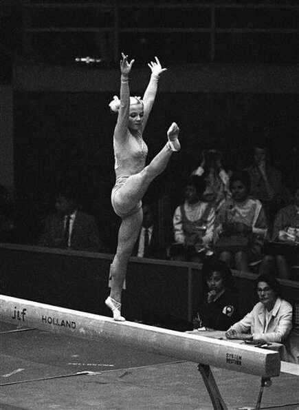 At 15 she was young and flexible at the 1968 Olympics in Mexico City.