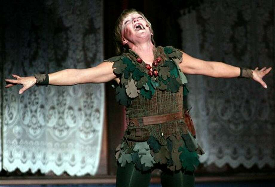 "In 2005 she played Peter Pan in a ""farewell performance"" at New York's Madison Square Garden, but the farewell didn't last and she is again reprising her role at age 60.  Photo: JOHN MARSHALL MANTEL, Ap / AP2005"