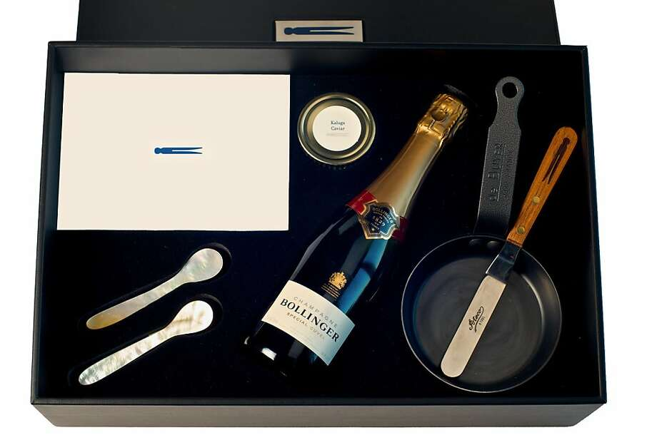 French Laundry's Champagne & Caviar gift set, $1,000. Photo: The French Laundry