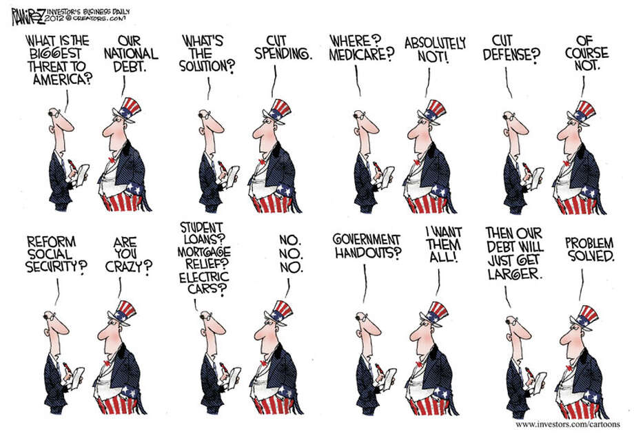 Today's edtioral cartoon is by Michael Ramirez of Investor's Business Daily.