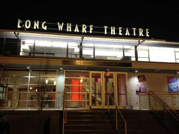 "The renovation of Long Wharf Theatre was unveiled with the new production of ""The Killing of Sister George."" In addition to a bright new facade, the lobby has been expanded, and in the auditorium the new seats have significantly more legroom than the New Haven venue's notorious old knee-killers. Photo: Contributed Photo"
