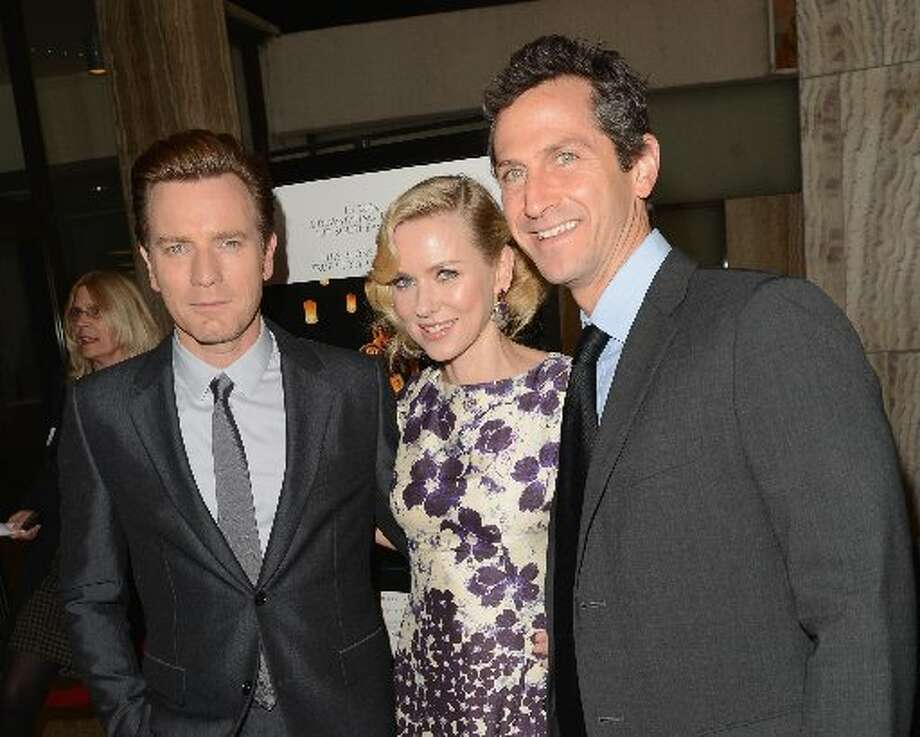 (L-R) Actors Ewan McGregor, Naomi Watts and Erik Feig, President of Production at Lionsgate Motion Picture Group, attend the Los Angeles premiere of Summit Entertainment's The Impossible at ArcLight Cinemas Cinerama Dome on December 10, 2012 in Hollywood, California. (Photo by Jason Merritt/Getty Images) (Getty)