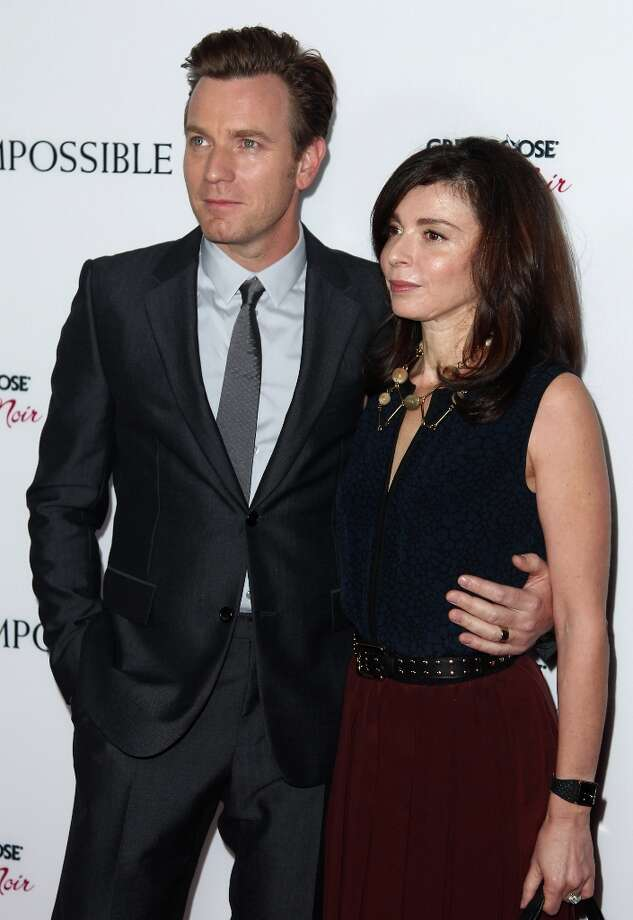 Actor Ewan McGregor, left, and Eve Mavrakis attend the premiere of The Impossible at the Arclight Cinerama Dome on Monday, Dec. 10, 2012, in Los Angeles. (Photo by Matt Sayles/Invision/AP) Photo: Matt Sayles, Matt Sayles/Invision/AP / Invision2012