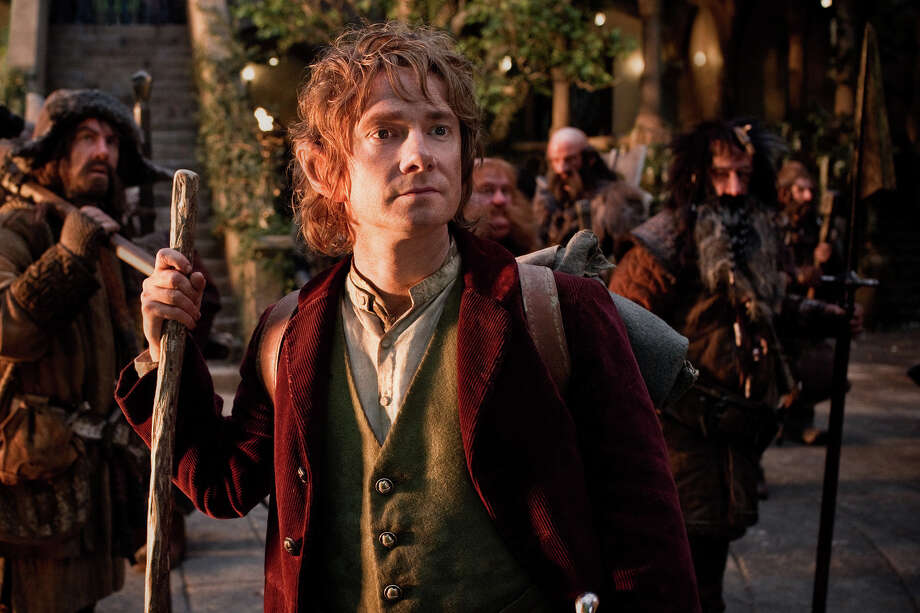 "James Nesbitt as Bofur, Martin Freeman, front, as Bilbo Baggins, Stephen Hunter as Bombur, Graham McTavish as Dwalin, William Kircher as Bifur, and Jed Brophy as Nori in the fantasy adventure ""The Hobbit: An Unexpected Journey,"" a production of New Line Cinema and Metro-Goldwyn-Mayer Pictures (MGM), released by Warner Bros. Pictures and MGM. (MCT) Photo: HANDOUT, McClatchy-Tribune News Service / MCT"