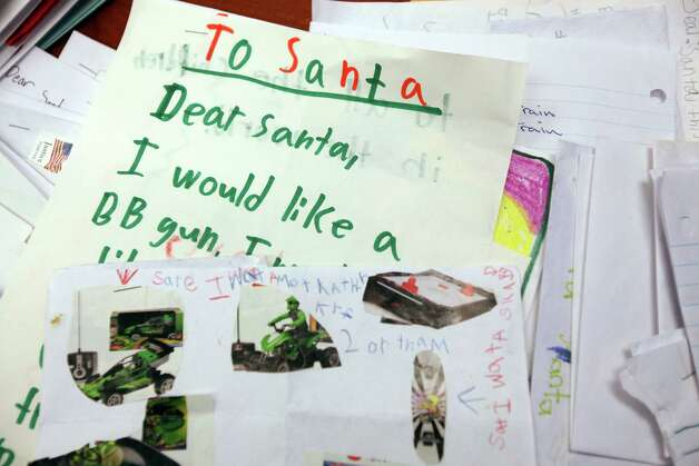 A child's letter to Santa on Tuesday, Dec. 11, 2012, in Houston. Photo: Mayra Beltran, Houston Chronicle / © 2012 Houston Chronicle