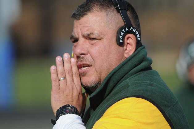 Trinity Catholic football coach Pete Stokes stepped down Tuesday after four years as head coach and 15 years over all. Photo: Keelin Daly / Stamford AdvocateRiverbendStamford, CT