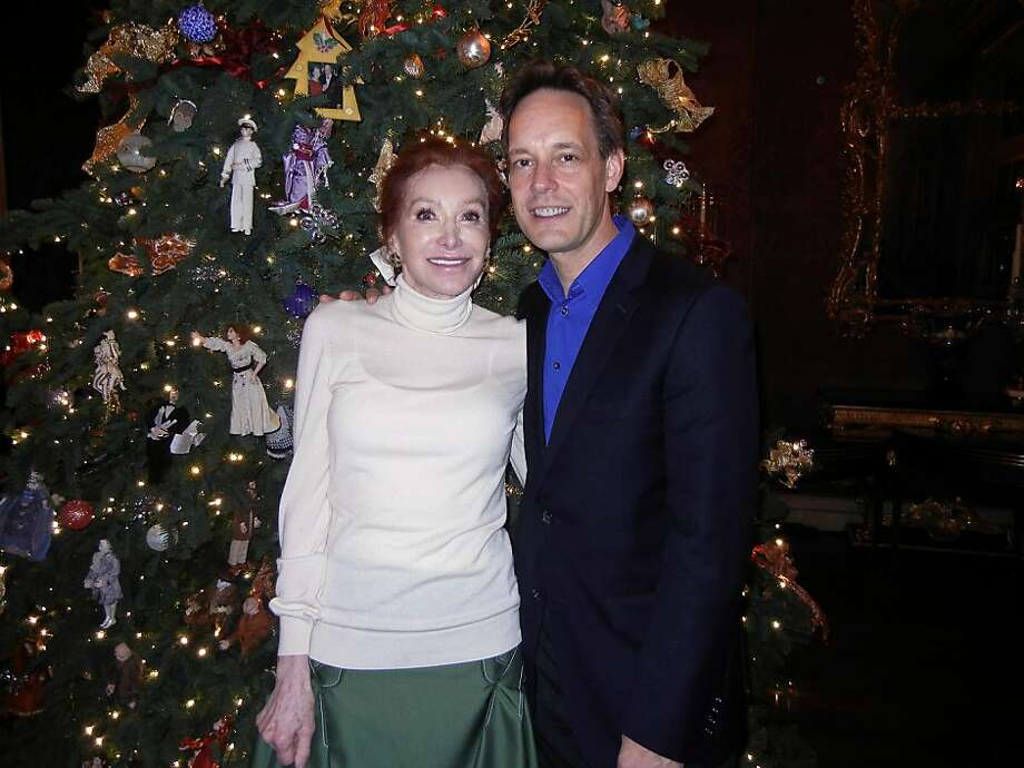 Ann Getty and composer Jake Heggie at her husband's birthday party. Photo: Catherine Bigelow, Special To The Chronicle