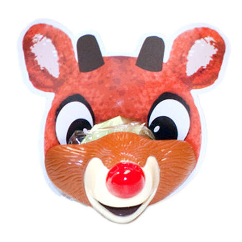 Rudolph the Red Nosed Reindeer Lip Pops. Rudolph the Red Nosed Reindeer, had a very tasty nose that came in three fruity flavors: Blue Raspberry, Watermelon, and Green Apple. $2 a pop. CandyWarehouse.com. Photo: Unknown