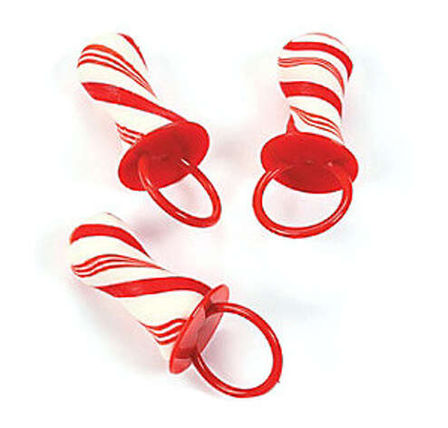 Peppermint Ring Lollipops. Why bother with a diamond ring when you can wear one of these sweet pops that you can suck on all day. 55 cents per ring. CandyWarehouse.com.