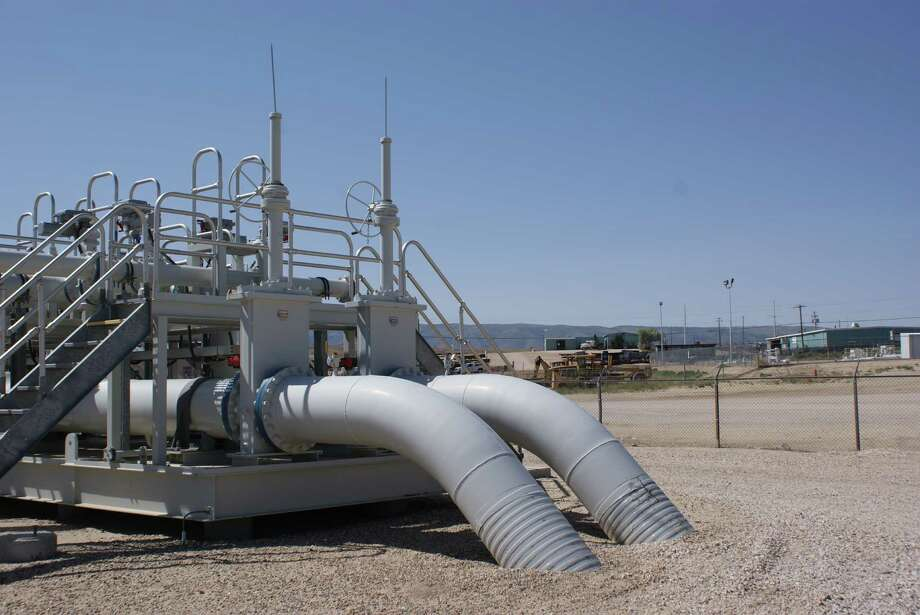 This section  of pipeline in Casper, Wyo., is part of the Express-Platte 785-mile system Spectra Energy is in the process of buying. It runs from Alberta to the Rocky Mountains. Photo: Spectra Energy
