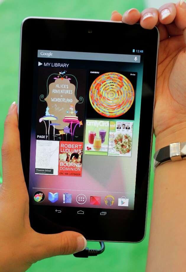 #3:  Google Nexus 7 tablet.(AP Photo/Paul Sakuma) Photo: Paul Sakuma, Associated Press / AP