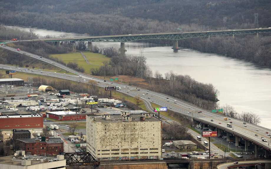 View of I-787 and Hudson River from the Corning Tower on Tuesday Dec. 11, 2012 in Albany, N.Y. Mayor Jerry Jennings has said publicly he?d like to demolish Interstate 787, a development dream far in the city?s future if on the horizon at all. Residents are expected to gather tonight to share their vision of what Albany?s waterfront should become, the first stage of a new city planning effort. (Lori Van Buren / Times Union) Photo: Lori Van Buren