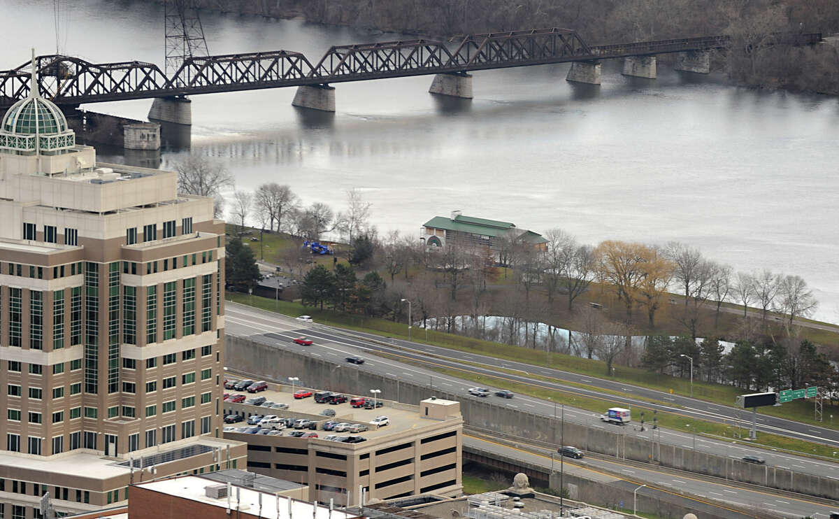 View of I-787 and Hudson River from the Corning Tower on Tuesday Dec. 11, 2012 in Albany, N.Y. Mayor Jerry Jennings has said publicly he?d like to demolish Interstate 787, a development dream far in the city?s future if on the horizon at all. Residents are expected to gather tonight to share their vision of what Albany?s waterfront should become, the first stage of a new city planning effort. (Lori Van Buren / Times Union)