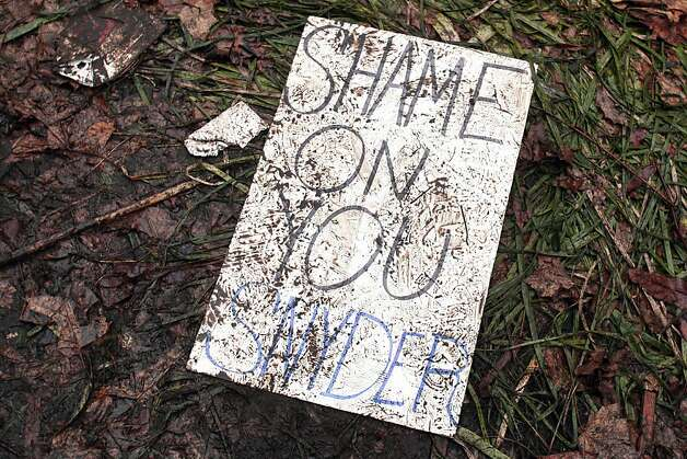 LANSING, MI - DECEMBER 11: A muddied, trampled protestor's sign lies on the ground where union members from around the country rally at the Michigan State Capitol to protest a vote on Right-to-Work legislation December 11, 2012 in Lansing, Michigan. Republicans control the Michigan House of Representatives, and Michigan Gov. Rick Snyder has said he will sign the bill if it is passed. The new law would make requiring financial support of a union as a condition of employment illegal. (Photo by Bill Pugliano/Getty Images) Photo: Bill Pugliano, Getty Images