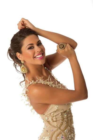 Miss Bolivia 2012, Yessica Mouton, poses in her evening gown.