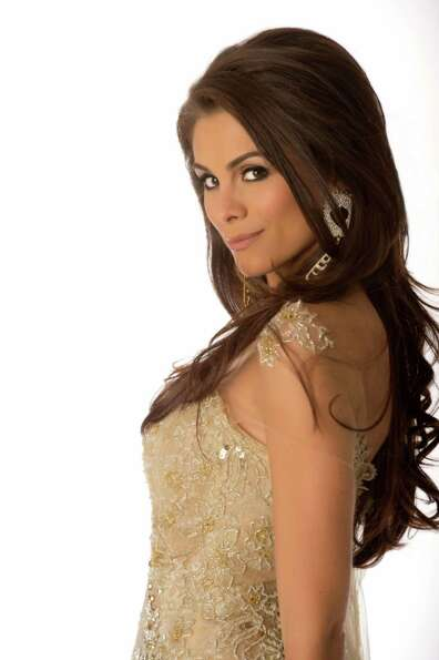 Miss Brazil 2012, Gabriela Markus, poses in her evening gown.