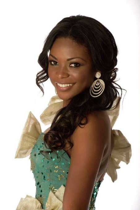 Miss Gabon 2012, Channa Divouvi, poses in her evening gown. Photo: Matt Brown, Miss Universe Organization / Miss Universe Organization