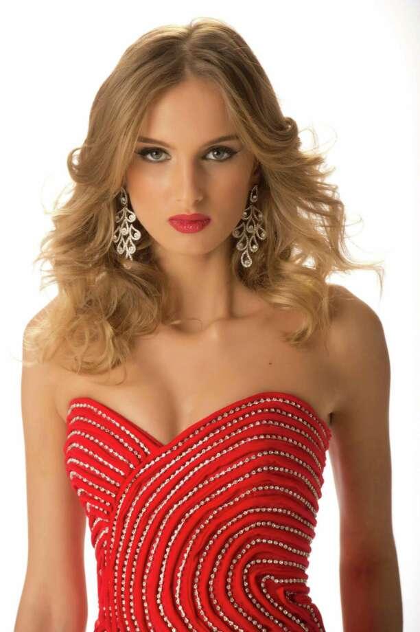 Miss Georgia 2012, Tamar Shedania, poses in her evening gown. Photo: Matt Brown, Miss Universe Organization / Miss Universe Organization