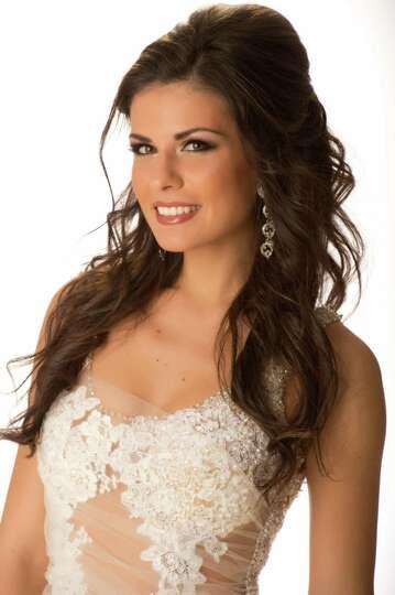 Miss Greece 2012, Vasiliki Tsirogianni, poses in her ...