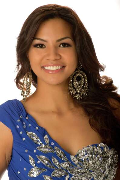 Miss Guam 2012, Alyssa Cruz Aguero, poses in her evening gown.