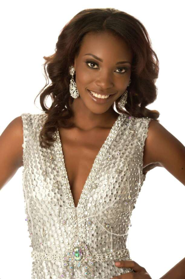 Miss Haiti 2012, Christela Jacques, poses in her evening gown. Photo: Matt Brown, Miss Universe Organization / Miss Universe Organization