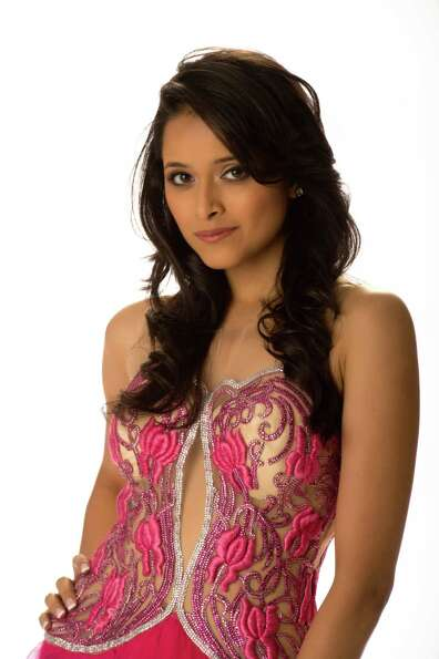 Miss India 2012, Shilpa Singh, poses in her evening gown.