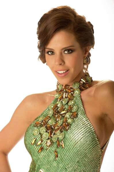 Miss Panama 2012, Stephanie Vander Werf, poses in her evening gown.