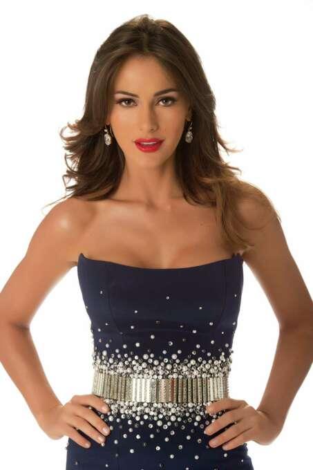 Miss Venezuela 2012, Irene Sofía Esser Quintero, poses in her evening gown. Photo: Matt Brown, Miss Universe Organization / Miss Universe Organization