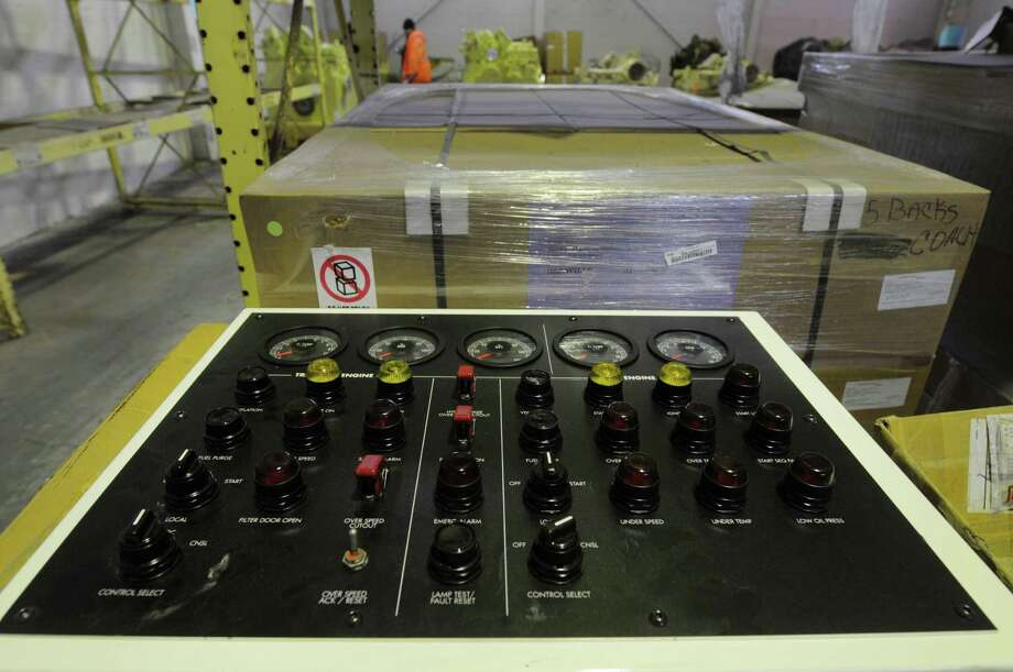A control panel was one of the items up for bid at an auction of State-owned surplus train parts at the Rotterdam Industrial Park on Tuesday, Dec. 11, 2012 in Rotterdam, NY.  (Paul Buckowski / Times Union) Photo: Paul Buckowski