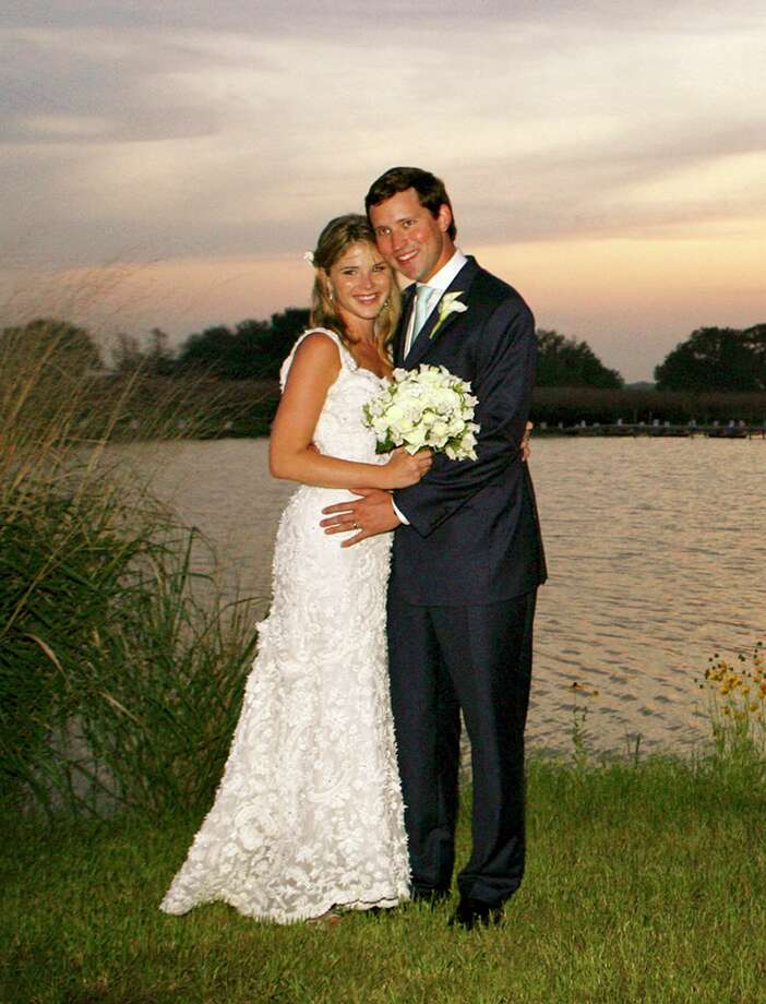 The daughter of President Bush and first lady Laura Bush, Jenna, poses with her new husband Henry Hager, following their marriage at the Bush family's Prairie Chapel Ranch in Crawford, Texas, Saturday, May 10, 2008. Photo: Shealah Craighead, AP / The White House
