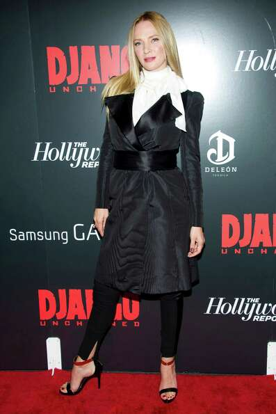 Uma Thurman attends the premiere of