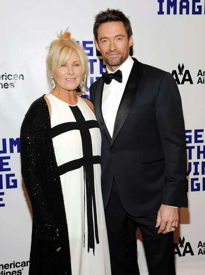 Honoree Hugh Jackman and wife Deborra-Lee Furness attend the Museum of the Moving Image Salute to Hugh Jackman at Cipriani Wall Street on Tuesday Dec. 11, 2012 in New York. Photo: Evan Agostini, Evan Agostini/Invision/AP / Invision