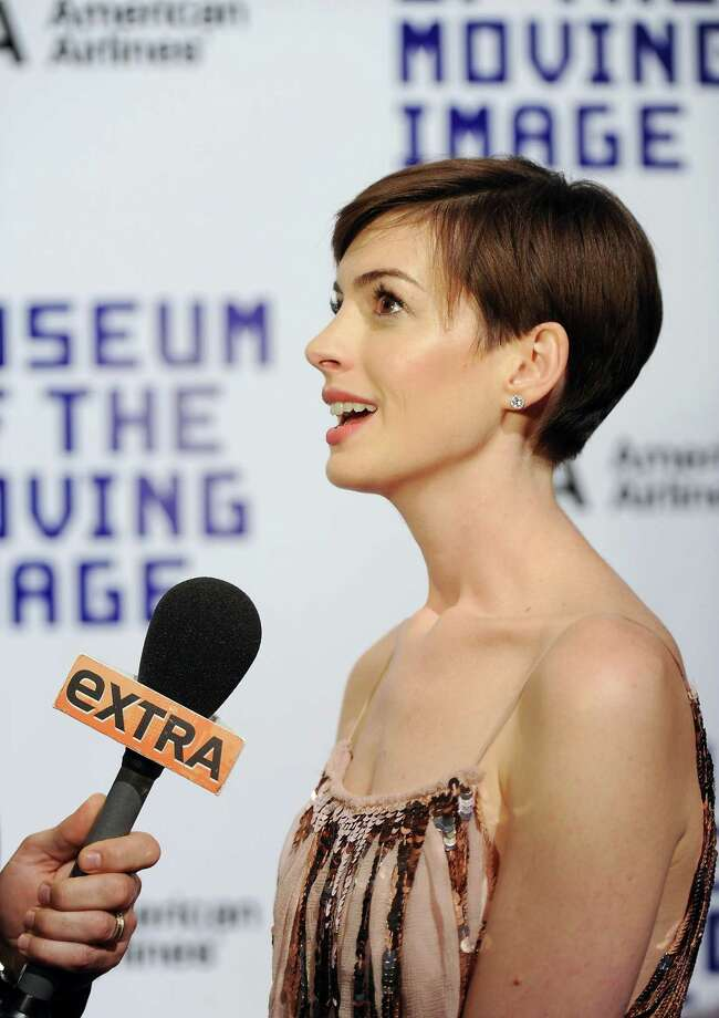 Actress Anne Hathaway attends the Museum of the Moving Image Salute to Hugh Jackman at Cipriani Wall Street on Tuesday Dec. 11, 2012 in New York. Photo: Evan Agostini, Evan Agostini/Invision/AP / Invision
