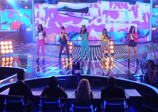 S.A. native Ally Brooke, band Fifth Harmony perform on 'X Factor.' Courtesy Fox