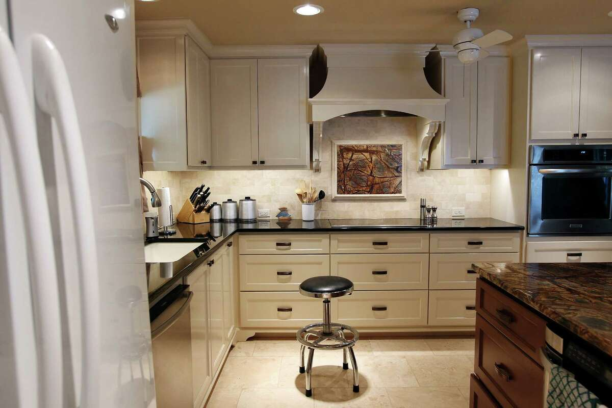 Linda and Bill Blanton's newly remodeled kitchen in Pleasanton, Texas on Tuesday, Nov. 27, 2012. The kitchen was given more room, updated with new cabinetry and drawers and countertops were decked in granite. Both love to cook and the new space gives them all the room they want.