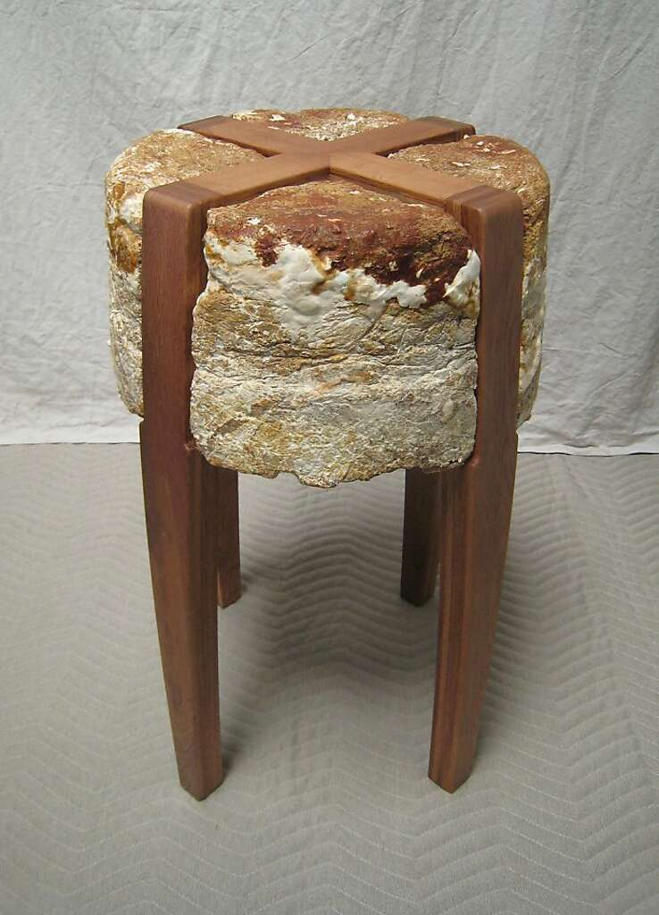 A Stool Made From Mushroom Fungus Photo: Phillip Ross