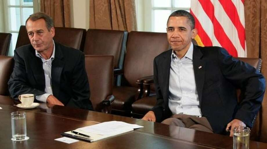 Speaker of the House John Boehner and President Barack Obama during 2011 budget negotiations. (AP Photo)