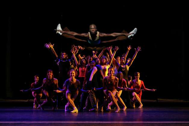 Mickey Junior-Ayer as Richie and the Company of A Chorus Line (Photo by Phil Martin)
