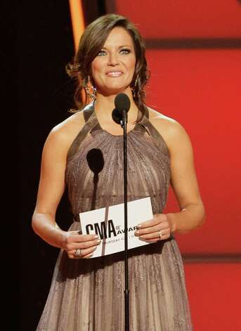 Martina McBride presents the award for male vocalist of the year at the 46th Annual Country Music Awards at the Bridgestone Arena on Thursday, Nov. 1, 2012, in Nashville, Tenn. (Photo by Wade Payne/Invision/AP) Photo: Wade Payne / Invision