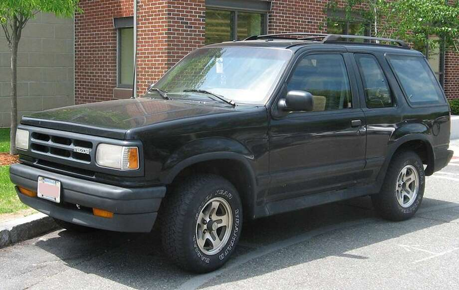 1991 Mazda Navajo: The Navajo was a re-branded Ford Explorer, and because of that, it got caught in the Firestone recall that all but crippled the Explorer during the early 1990s. (Photo: IFCAR, Wikipedia)