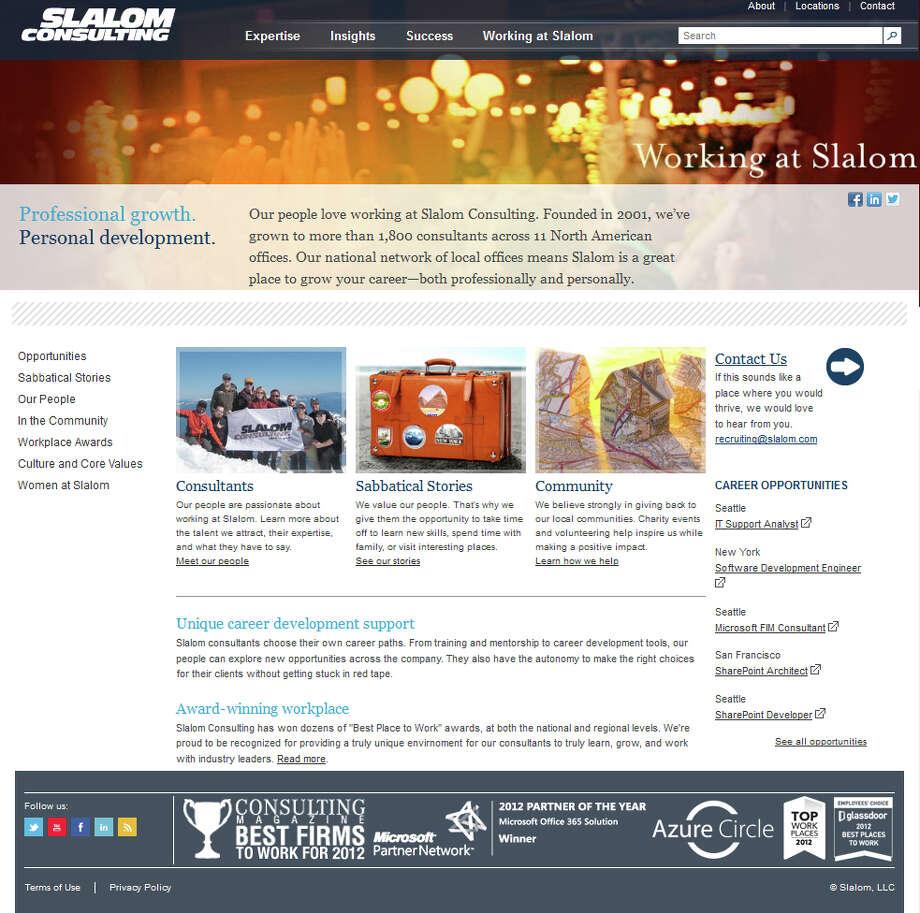 25. Slalom Consulting, 4 stars. Photo: Slalom Consulting