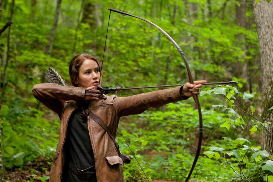 In this image released by Lionsgate, Jennifer Lawrence portrays Katniss Everdeen in a scene from The
