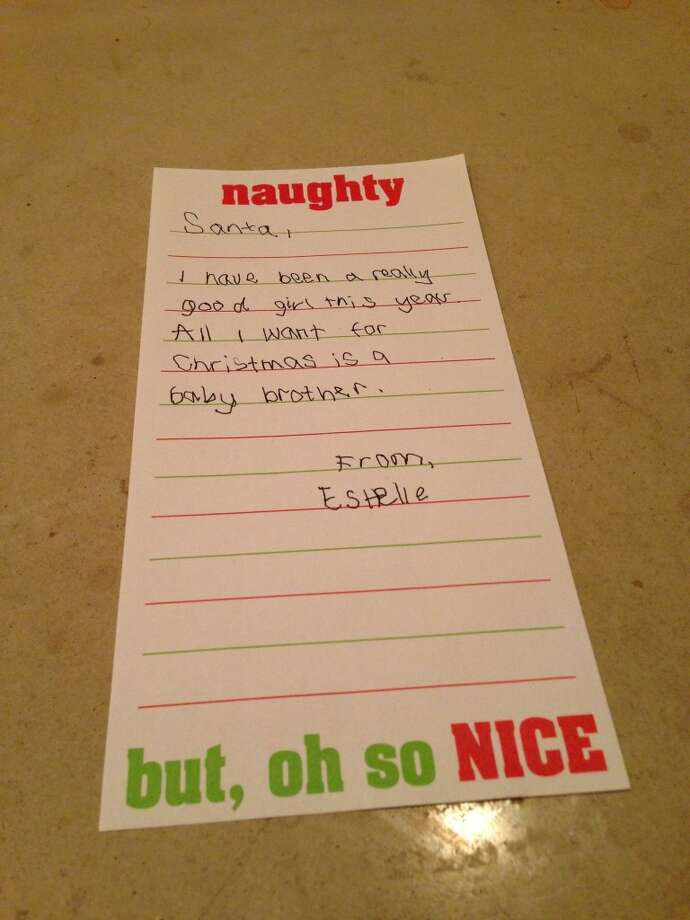 Estlle's letter to Santa 2012