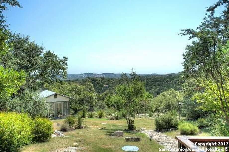 The backyard provides breathtaking views.