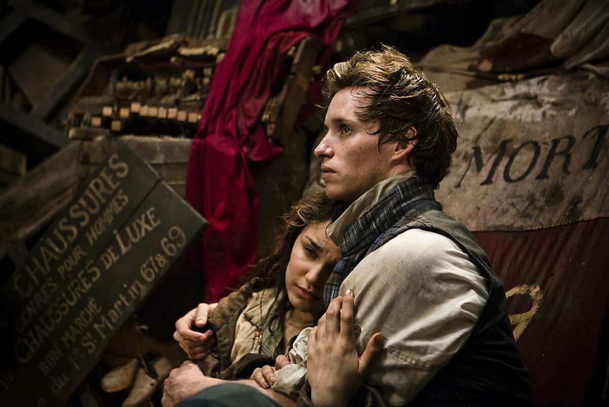"""Eddie Redmayne is Marius and Samantha Barks is Eponine in the big screen adaptation of the musical """"Les Misérables."""""""