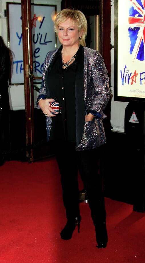Jennifer Saunders arrive for 'Viva Forever!' Press Night, a musical based on the songs of the Spice Girls, at the Piccadilly Theatre in central London, Tuesday, Dec. 11, 2012. (Photo by Joel Ryan/Invision/AP) Photo: Joel Ryan, Joel Ryan/Invision/AP / Invision2012