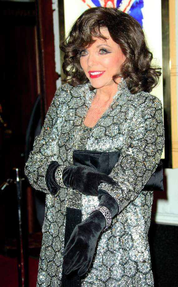 Joan Collins arrives for 'Viva Forever!' Press Night, a musical based on the songs of the Spice Girls, Tuesday, Dec. 11, 2012. (Photo by Joel Ryan/Invision/AP) Photo: Joel Ryan, Joel Ryan/Invision/AP / Invision2012